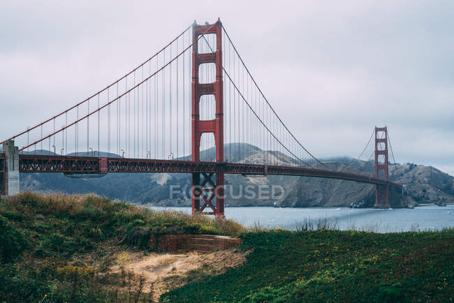 Berühmte Golden Gate Bridge, San Francisco, Kalifornien — Stockfoto