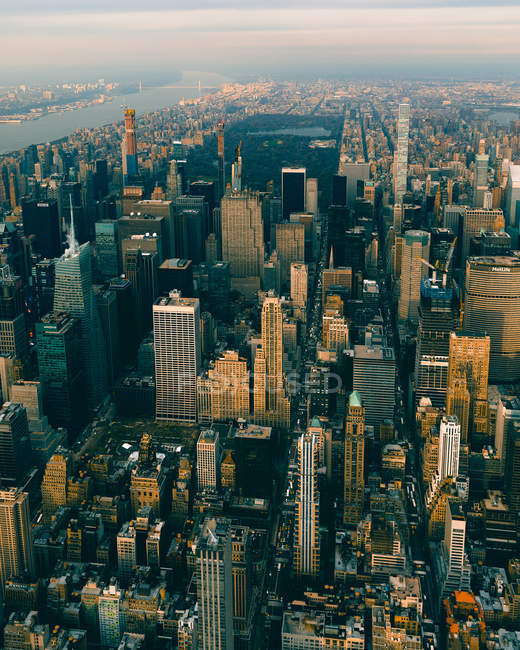 Aerial photography of high buildings and urban cityscape — Stock Photo