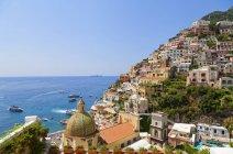 Міський пейзаж Позітано, узбережжя Амальфі, кампанія, Італія, Європа — стокове фото