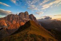 Pelmo Mount, Borca di Cadore, Dolomites, Veneto, Itália — Fotografia de Stock