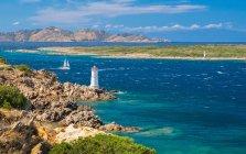 Faro di Capo Ferro, Porto cervo, Arzachena, provincia di Olbia Tempio, Sardegna, Italia, Europa . — Foto stock