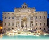 Trevi Fountain at down, Rome, Lazio, Italy, Europe — Stock Photo