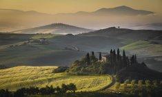 Podere Belvedere, San Quirico d'Orcia, Val d'Orcia, Toscane, Italie, Europe — Photo de stock