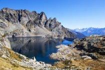 Озеро Труццо, Валтеллина, Ломбардия, Италия — стоковое фото