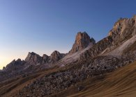 The Dolomites near Passo Giau. View towards west during sunset.  The Dolomites are listed as UNESCO World heritage. europe, central europe, italy,  november — Stock Photo