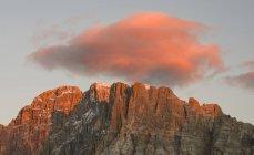 Monte Civetta no Veneto. La Civetta é um dos ícones das Dolomitas. As Dolomitas do Veneto fazem parte do património mundial da UNESCO. Europa, Europa Central, Itália, outubro — Fotografia de Stock
