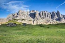 Le vette di Sella, Passo Gardena, Dolomiti, Alto Adige, Italia — Foto stock