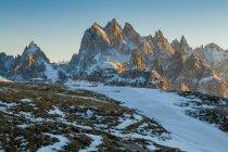 Auronzo, Cadore, Cadini, Dolomites, Veneto, Italy — Stock Photo