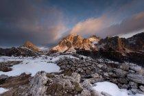 Sass de Stria, Lagazuoi, Dolomites, Veneto, Italy, Europe — Stock Photo