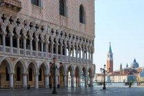 Doges Palace and San Giorgio church, Venice, Veneto, Italy — Stock Photo
