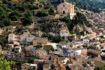 Міський пейзаж і Церква Сан-Маттео, Рагуза, Сицилія, Італія, Європа — стокове фото