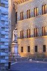 Salimbeni square, Siena, UNESCO, World Heritage Site Tuscany, Italy, Europe — Stock Photo