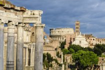 Roman Forum and Colosseum, Rome, Lazio, Italy,Europe — Stock Photo