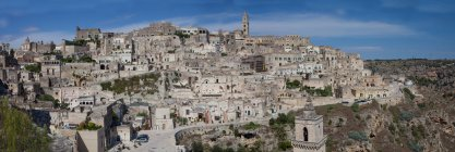 Вид на Сассо Caveoso, старий Матера Сіссі, Lucania, Базиліката, Південна Італія, Італія, Європа — стокове фото