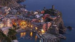 Vernazza, Cinque Terre, Italy, at night — Stock Photo