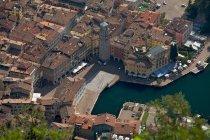 View of Riva del Garda from Santa Barbara church Trentino. Italy, Europe — Stock Photo