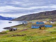 Поселение Кассиарсук, вероятно, старый Братталид, дом Эрика Рыжего. Америка, Северная Америка, Гренландия, Дания — стоковое фото