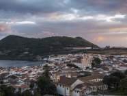 Cityscape. Capital Angra do Heroismo, the historic center is part of UNESCO world heritage.   Island Ilhas Terceira, part of the Azores (Ilhas dos Acores) in the atlantic ocean, an autonomous region of Portugal. Europe, Azores, Portugal. — Stock Photo