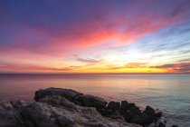 Parque Nacional Monte Conero, Playa Urbani, Amanecer, Sirolo, Marcas, Italia, Europa - foto de stock