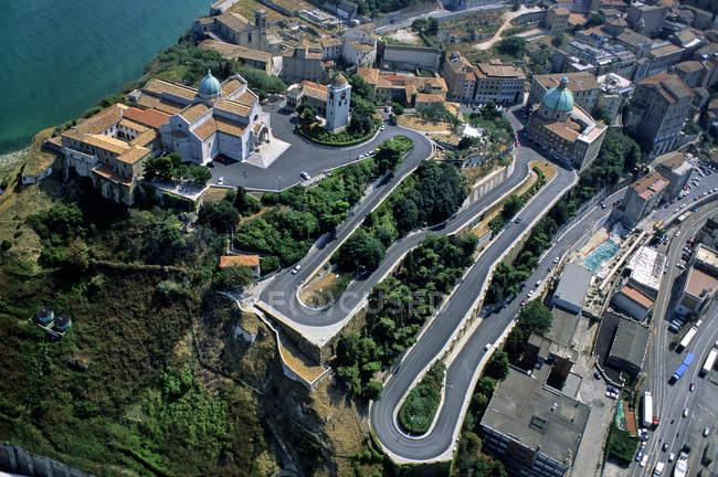 Vista aerea, Ancona, Marche, Italia, Europa — Foto stock