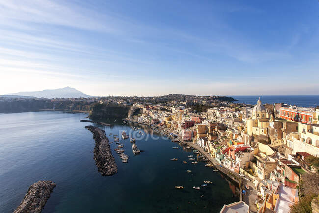 Marina Corricella, Procida, Campania, Italy, Europe — Stock Photo
