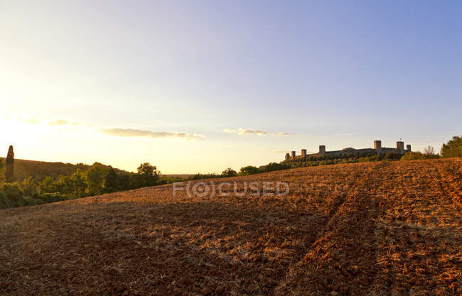Monteriggioni, medieval walled town, Tuscany, Italy, Europe - foto de stock