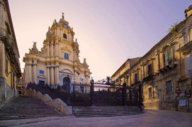 San Giorgio Cathedral, Ragusa Ibla, Ragusa Superiore, province of Ragusa, Sicily, Italy, Europe — Stock Photo
