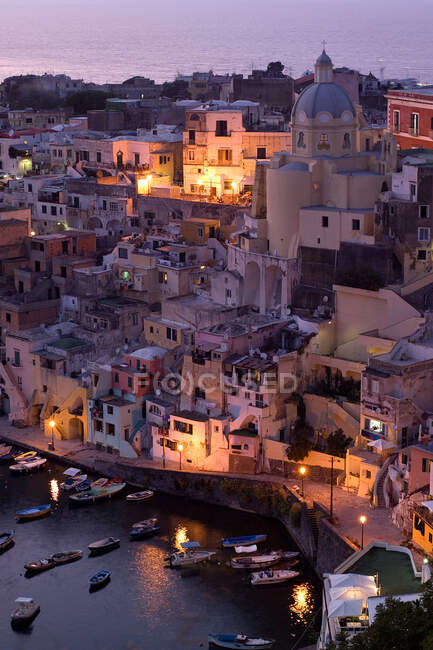 Corricella, Procida Island, Campania, Italy, Europe — Stock Photo