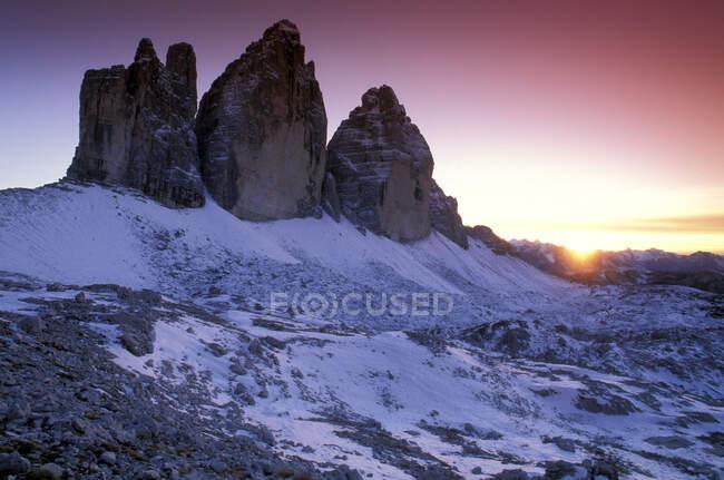 Tre cime di Lavaredo, Misurina (BL), Veneto, Italy — Stock Photo
