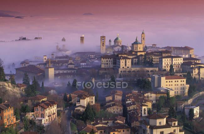 Aerial view of Bergamo, Lombardy, Italy — Stock Photo