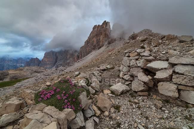 Lagazuoi вилка, Доломітові Альпи, Кортіна-д'Ампеццо, Венето, Італія — стокове фото