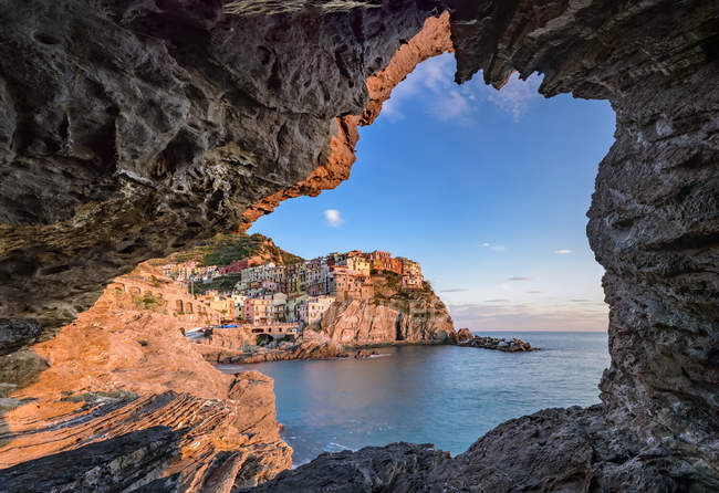 Manarola, Cinque Terre, UNESCO World Heritage Site, Ligury, Italy, Europe — Stock Photo