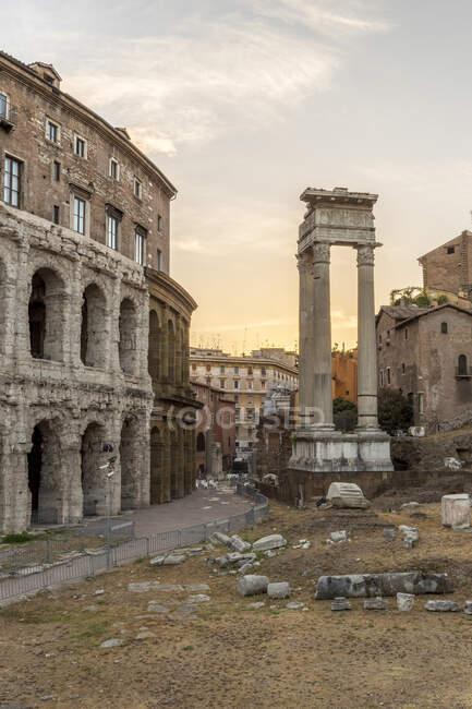 Europa, Itália, Lácio, Roma. O Teatro Marcello — Fotografia de Stock