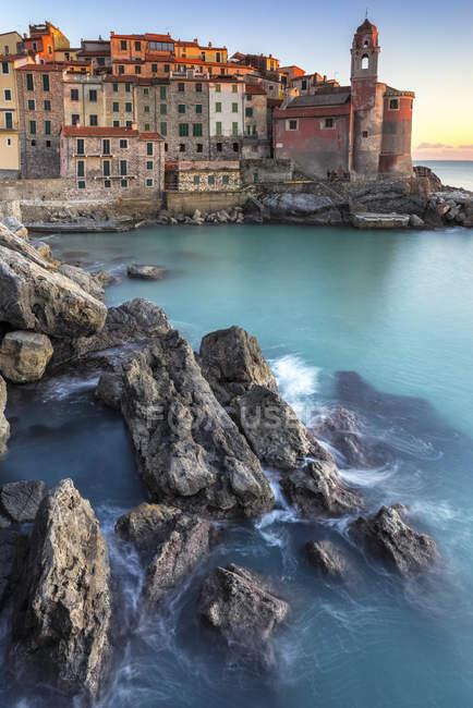The sea village of Tellaro, Lerici, La Spezia gulf, Ligury, Italy, Europe — Stock Photo