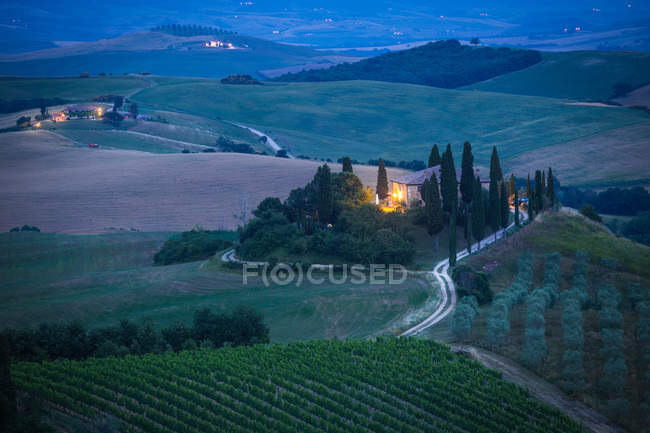 Countryside, Val d'orcia, Tuscany, Italy, Europe — Stock Photo