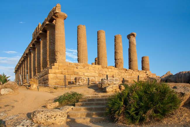 Храм Конкорда; Долина Храмов, Агридженто, Сицилия, Италия, Европа — стоковое фото