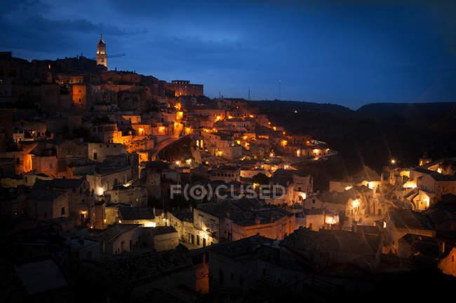 Blick auf sasso caveoso, matera, lucania, basilikata, süditalien, italien, europa — Stockfoto