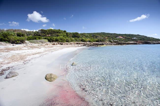 Cala Francese bay, Sa Bua, Porto Pino, Sant'Anna Arresi, Sardegna, Italia — Foto stock