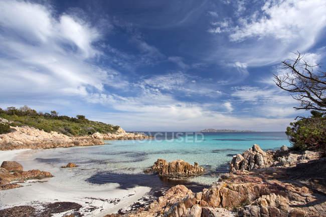 Poltu di Li Cogghj, Spiaggia del Principe, Romazzino, Costa Smeralda, Arzachena, Gallura, Sardinia, Italy, Europe — стокове фото