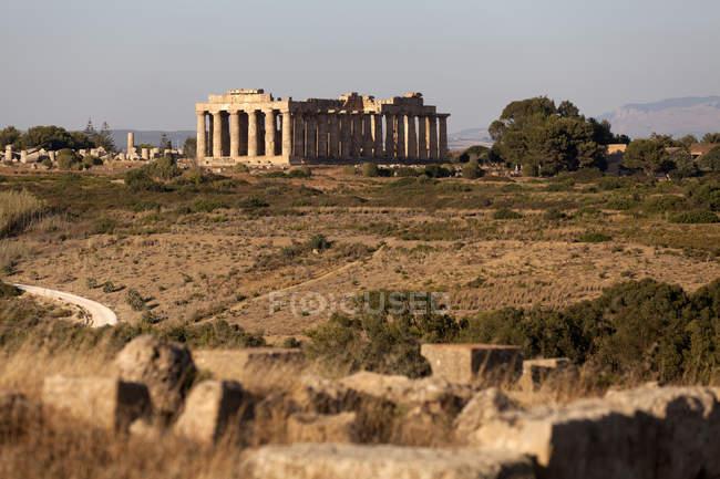 The Temple of Hera, Selinunte, archaeological site, Castelvetrano village, Sicily, Italy, Europe — Stock Photo