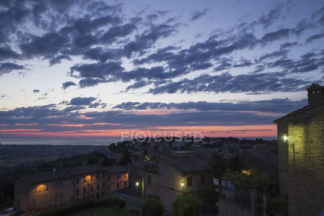 Alba da Potenza Picena, Marche, Italia, Europa — Foto stock