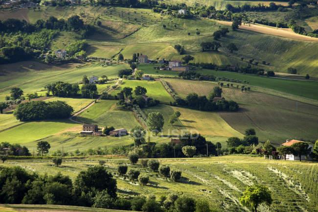 Campagna, Paesaggio, Petriolo, Marche, Italia, Europa — Foto stock