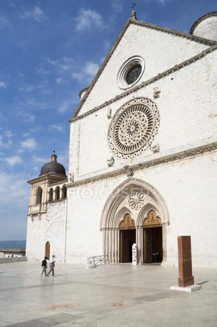 Базиліка ді-Сан Франческо, Ассизький, Умбрія, Італія, Європа — стокове фото