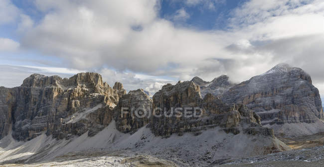 The Fanes Mountains in the Dolomites.   The Dolomites are listed as UNESCO World heritage. europe, central europe, italy,  october — Stock Photo