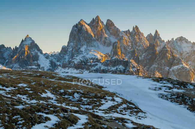 Auronzo, Cadore, Cadini, Dolomites, Veneto, Italy — стокове фото