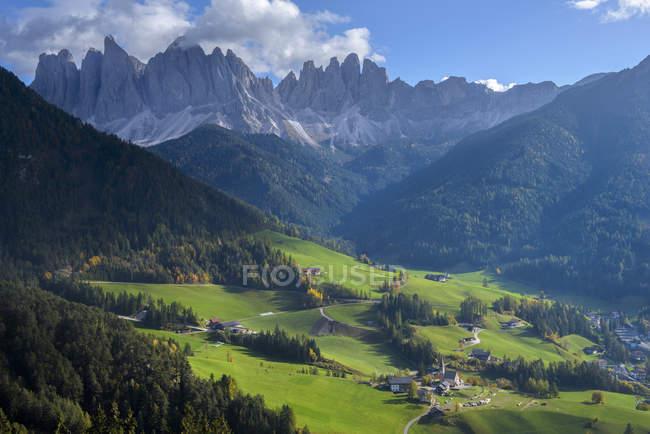 Val di Funes, Puez Olde Natural park, Trentino-Alto Adige, Italy — Stock Photo