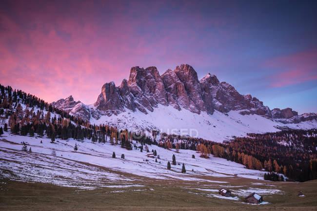 Parque Natural Puez-Geisler, Val di Funes, Trentino-Alto Adige, Itália — Fotografia de Stock