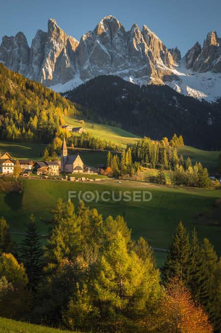 Funes Valley, Trentino-Alto Adige, Itália — Fotografia de Stock