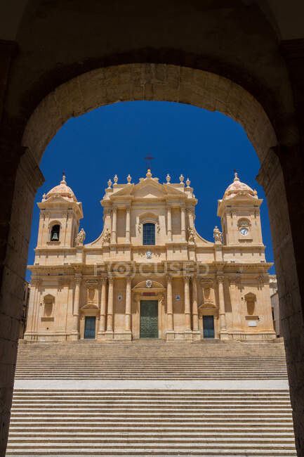 St. Nicholas Cathedral, Noto, Sicily, Italy, Europe — Stock Photo