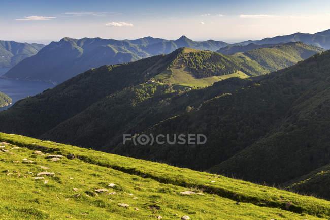 View of Rifugio Boffalora from Rifugio Venini, Como Lake, Lombardy, Italy. — Stock Photo